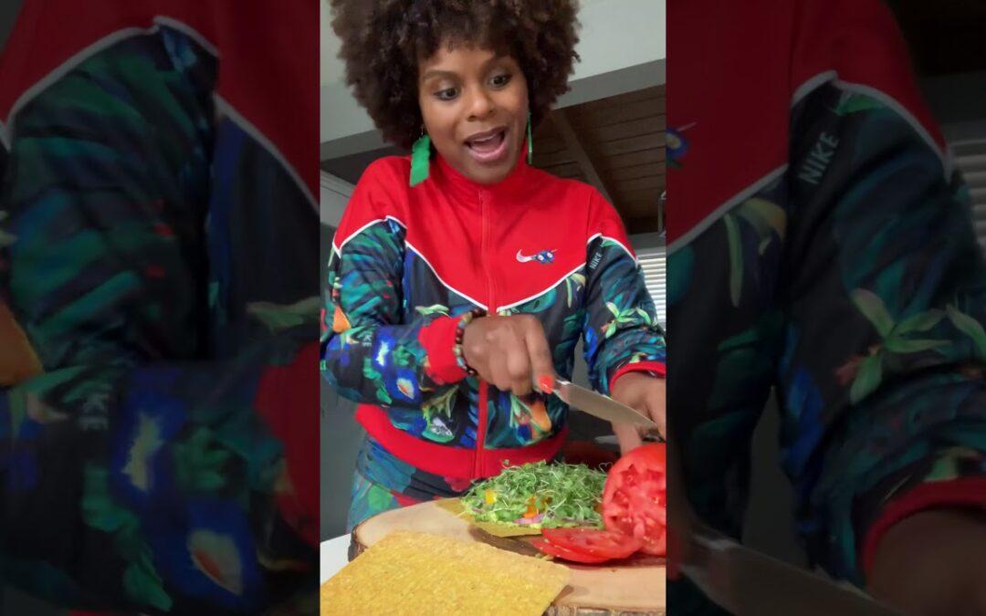 Raw Vegan Sandwich ~ Tabitha Brown